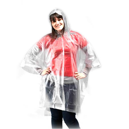 Clear Heavy Duty Rain Poncho