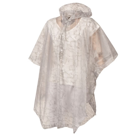 Cup Patterned Waterproof Poncho