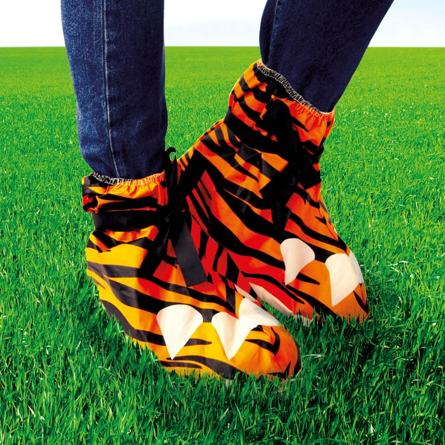 Tiger Print Festival Feet Water Resistant Shoe Covers