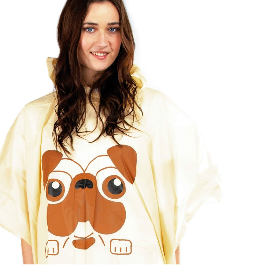 Pug Waterproof Poncho