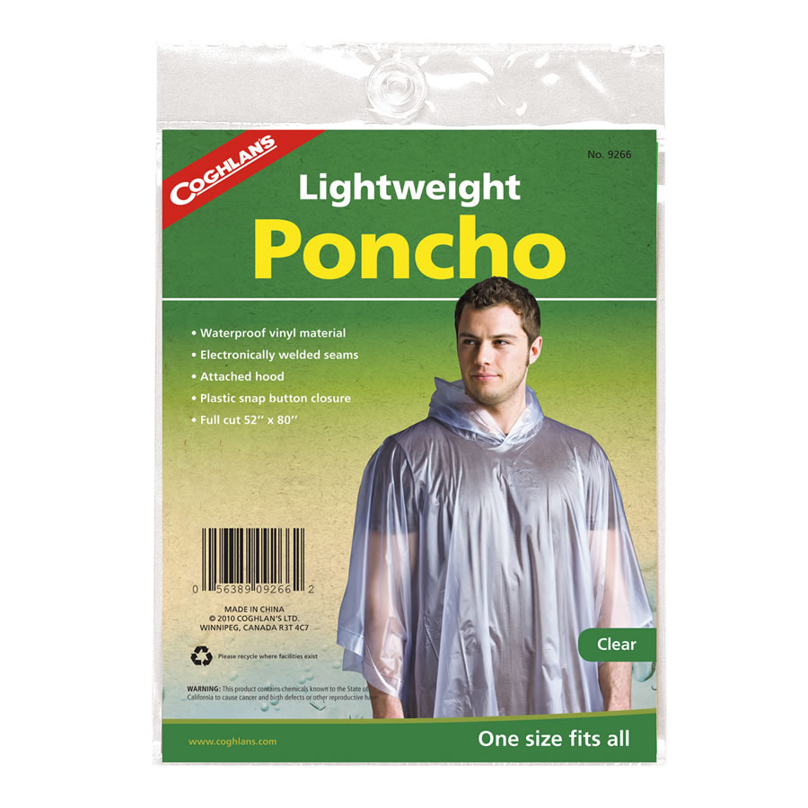 Clear Re-usable Festival Poncho