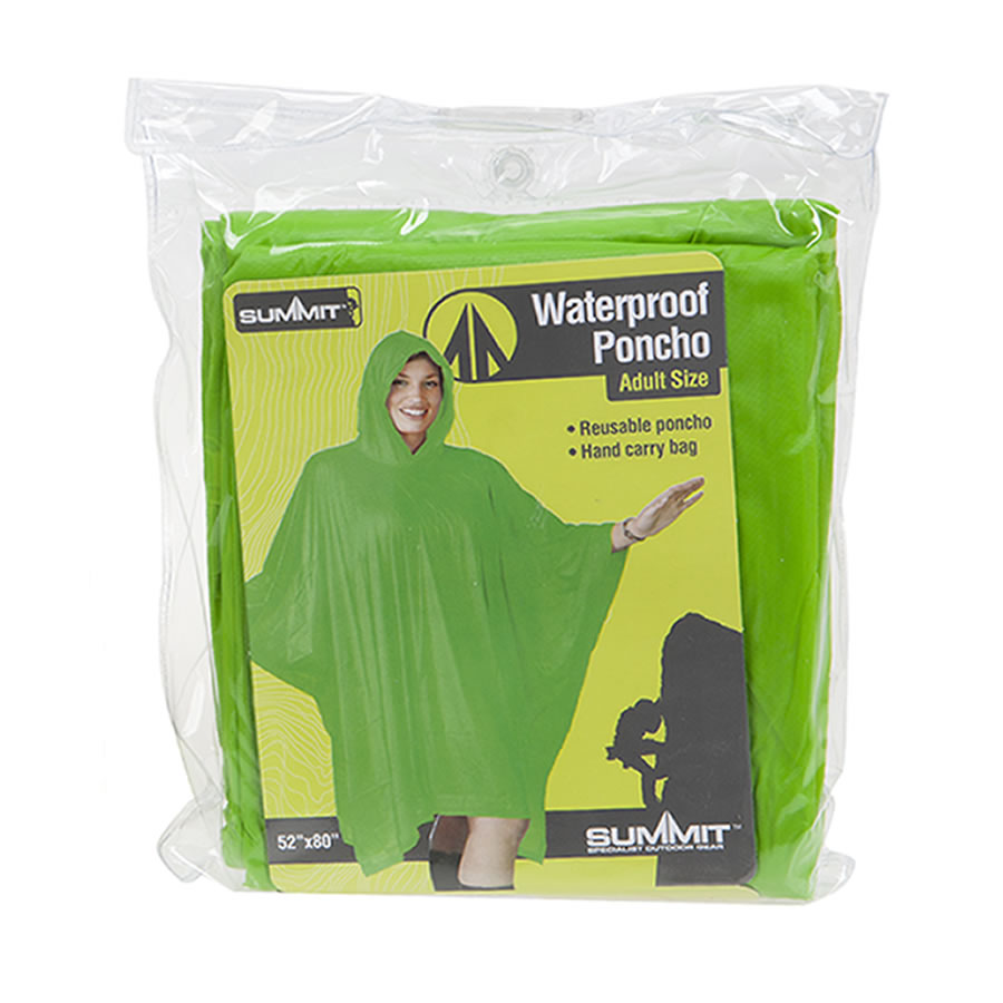 Green Re-usable Waterproof Poncho