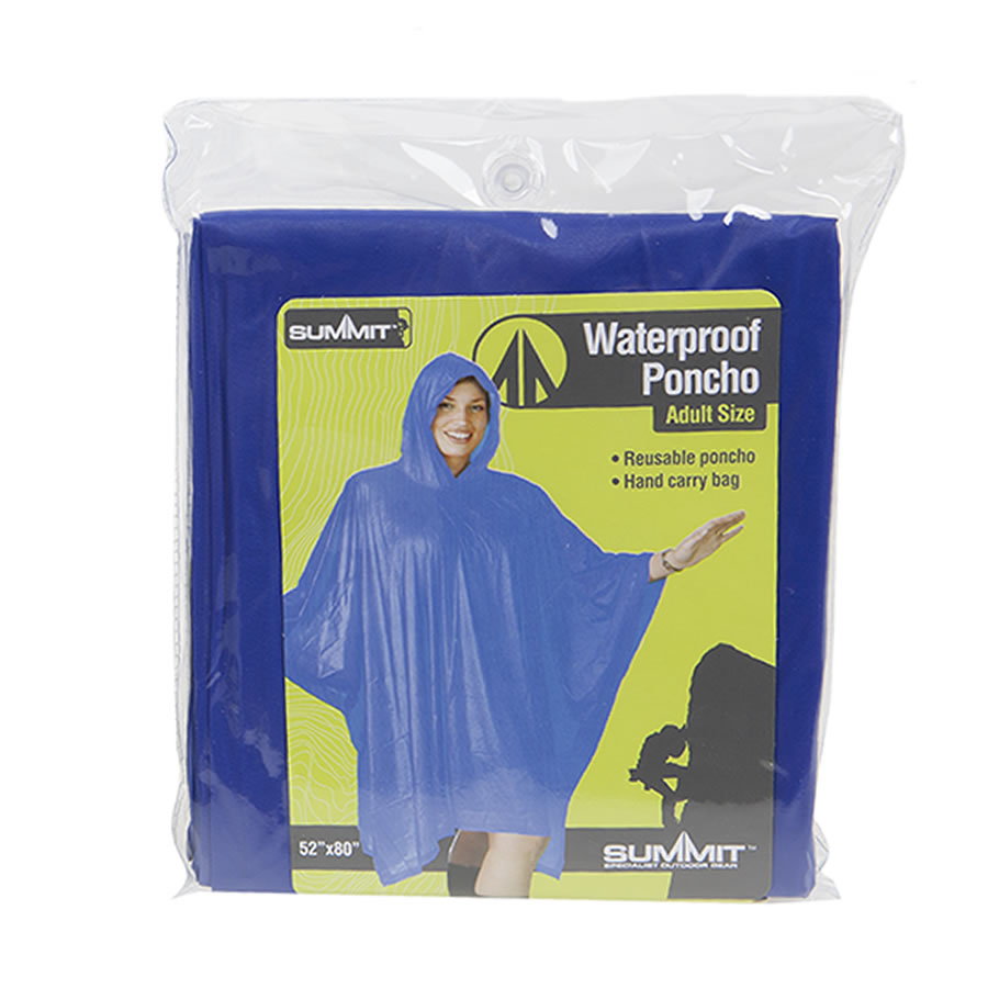 Blue Re-usable Waterproof Poncho