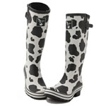 Patterned wellington boots